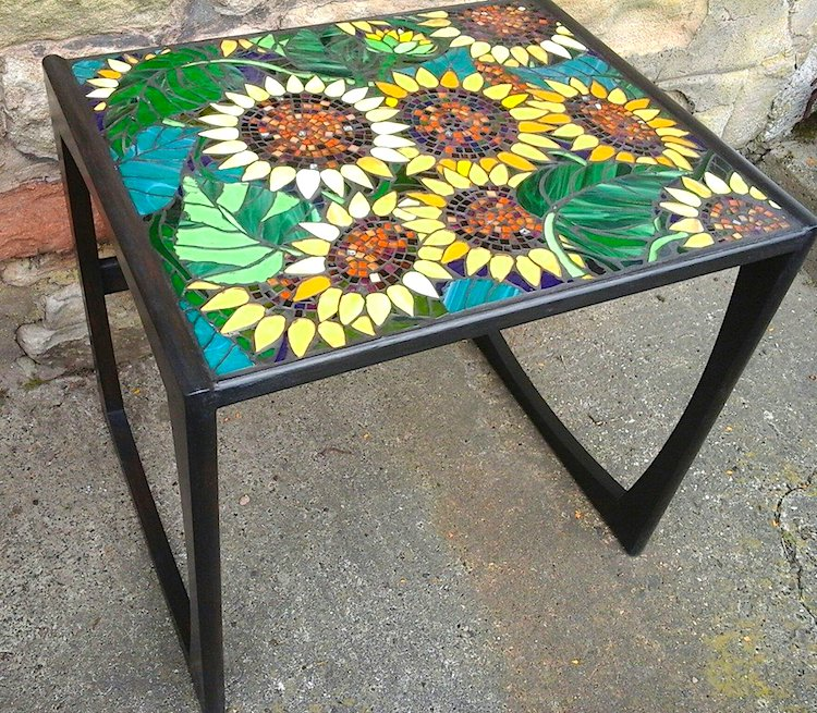 stained glass table