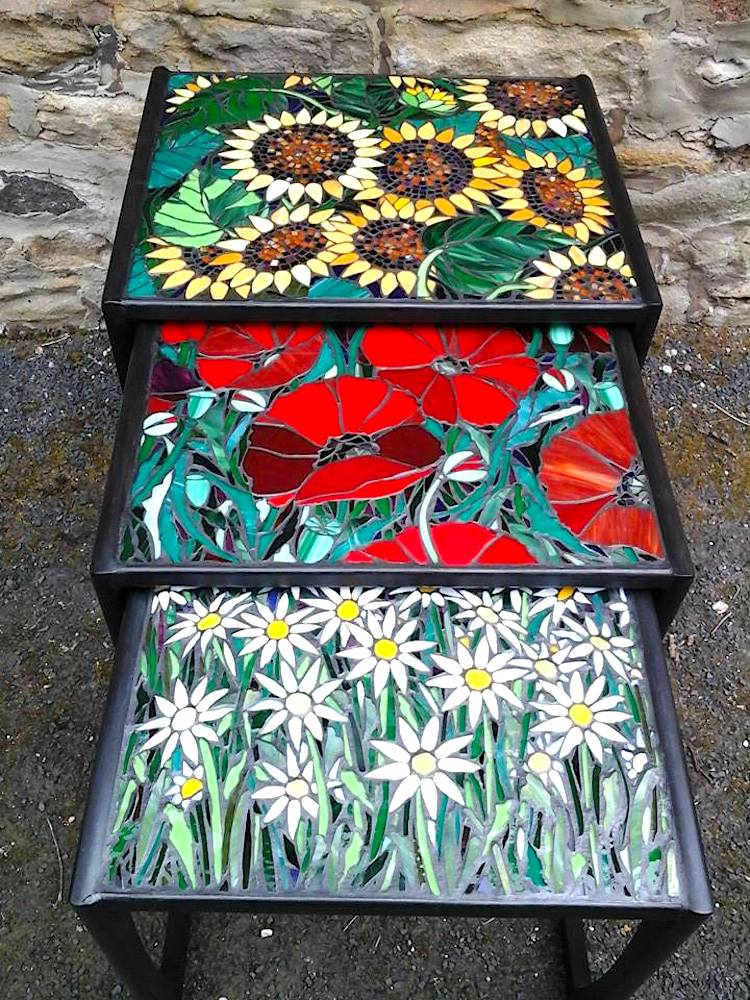 stained glass tables