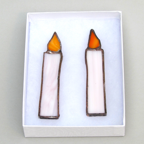 stained glass candle decorations