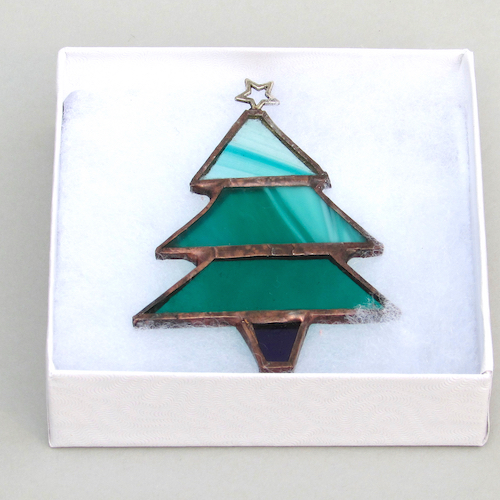 stained glass christmas tree decorations