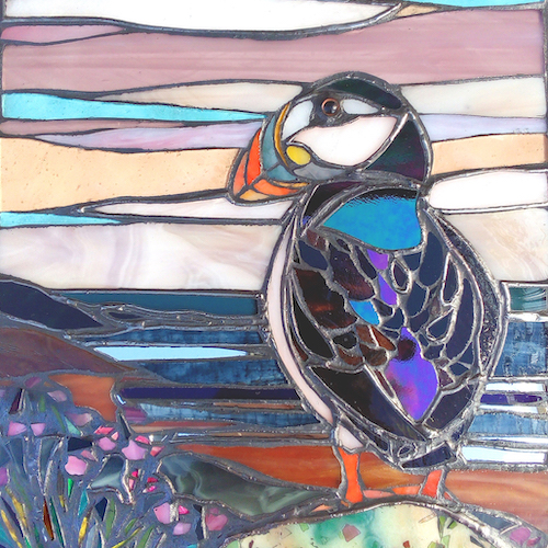 puffin watch coasters