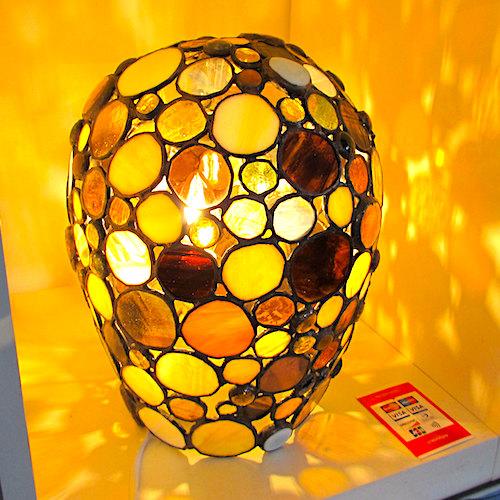 amber bubble lamp