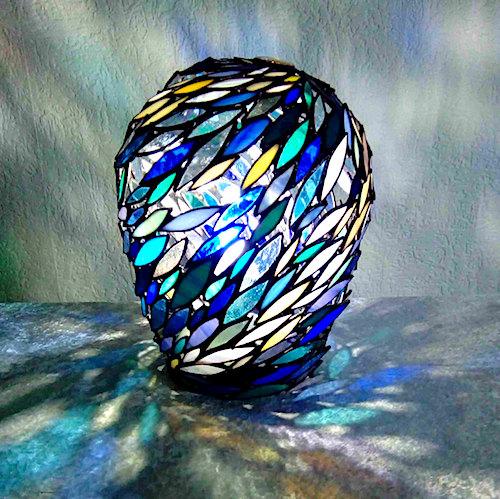blue ball lamp