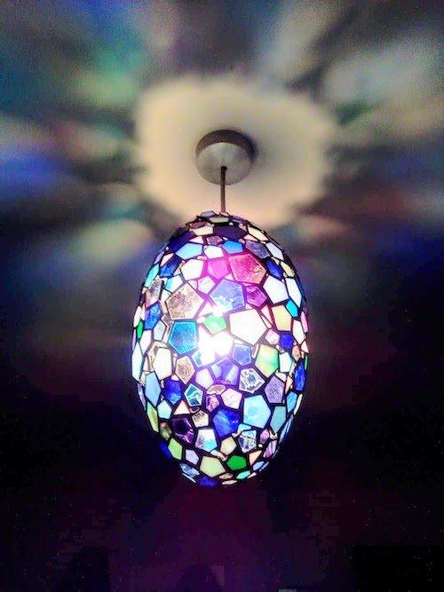 blue egg lamp