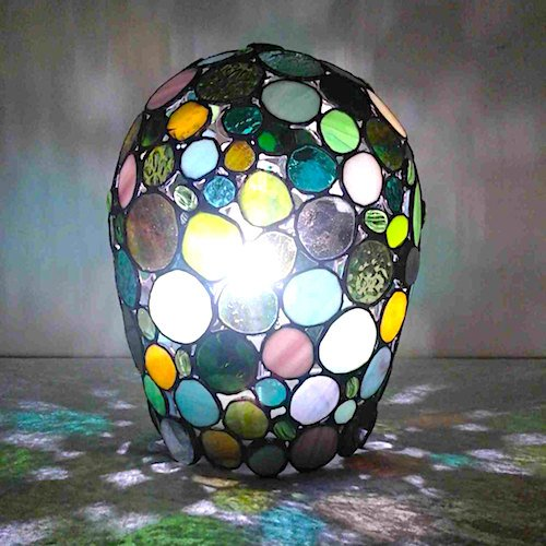 green bubble lamp