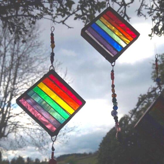 mini rainbow slice