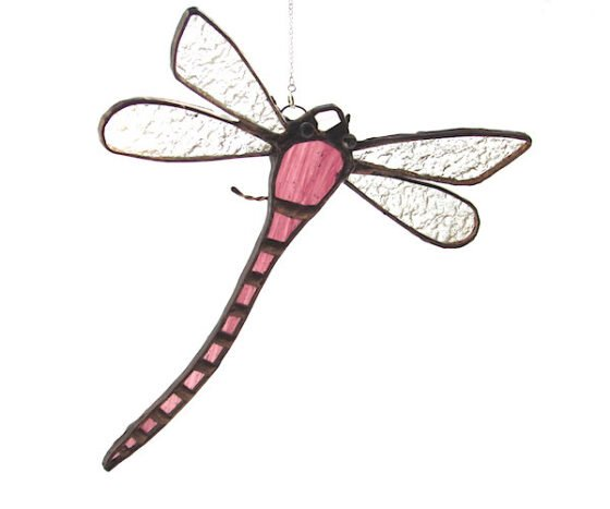 stain glass plum dragonfly