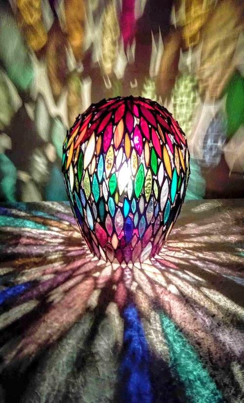 rainbow beehive lamp