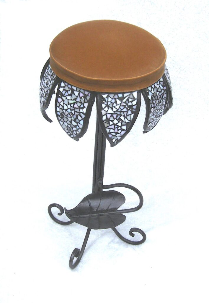 stained glass stool