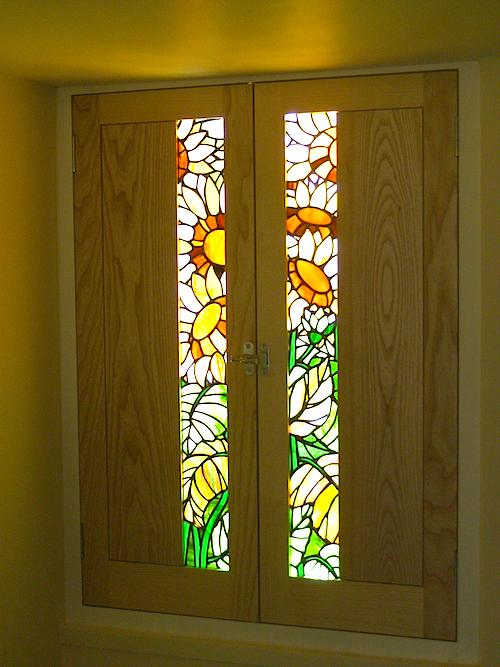 Sunflowers shutters
