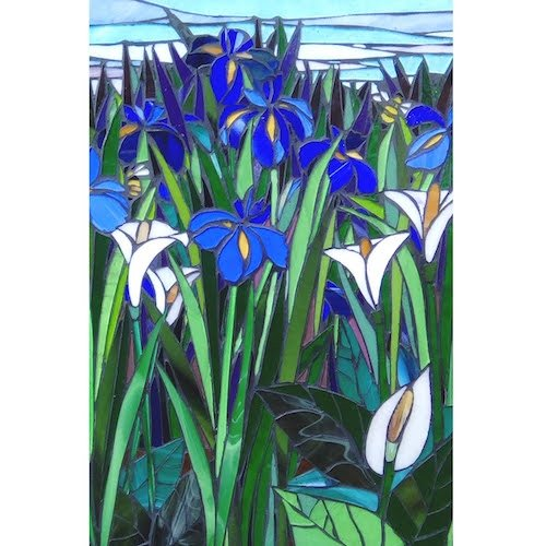 Blue Iris with Lilly